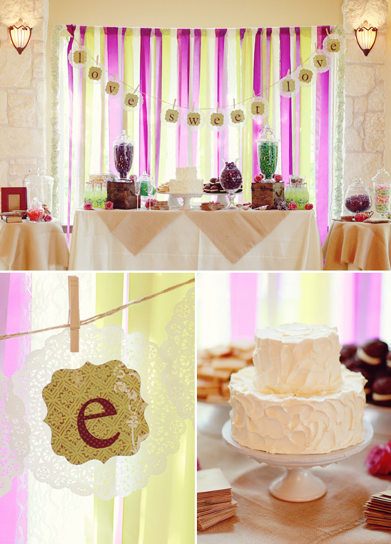 Vintage Romantic Purple & Green Wedding