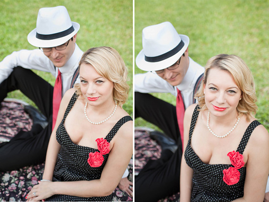 1950's inspired engagement photoshoot
