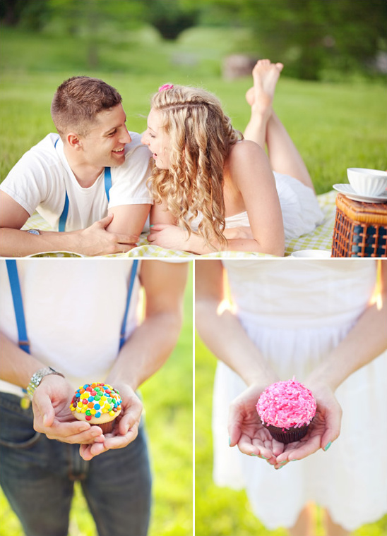 Tea & Cupcakes Engagement Session