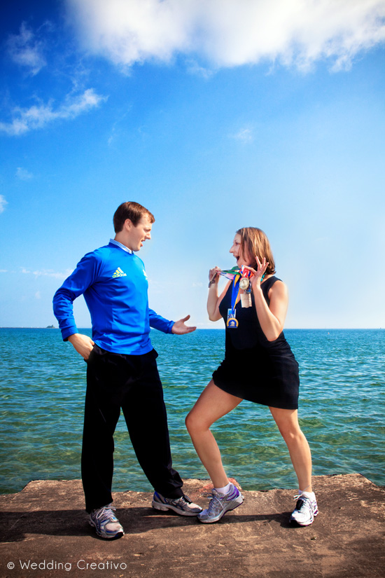 Humorous Chicago Engagement Session