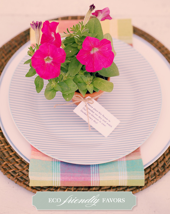 Do It Yourself Easy Eco Friendly Place Settings and Favors