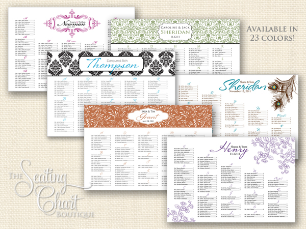 Wedding Seating Chart collage