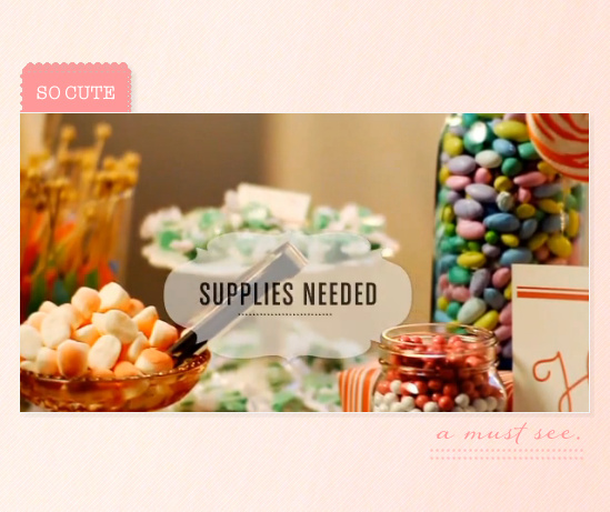 Do It Yourself Candy Buffet