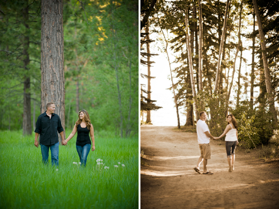 Lake Tahoe engagement session - Photography by Monique