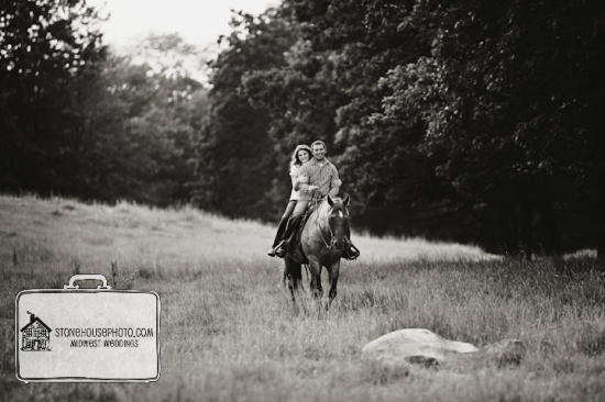 Engagements on horseback!