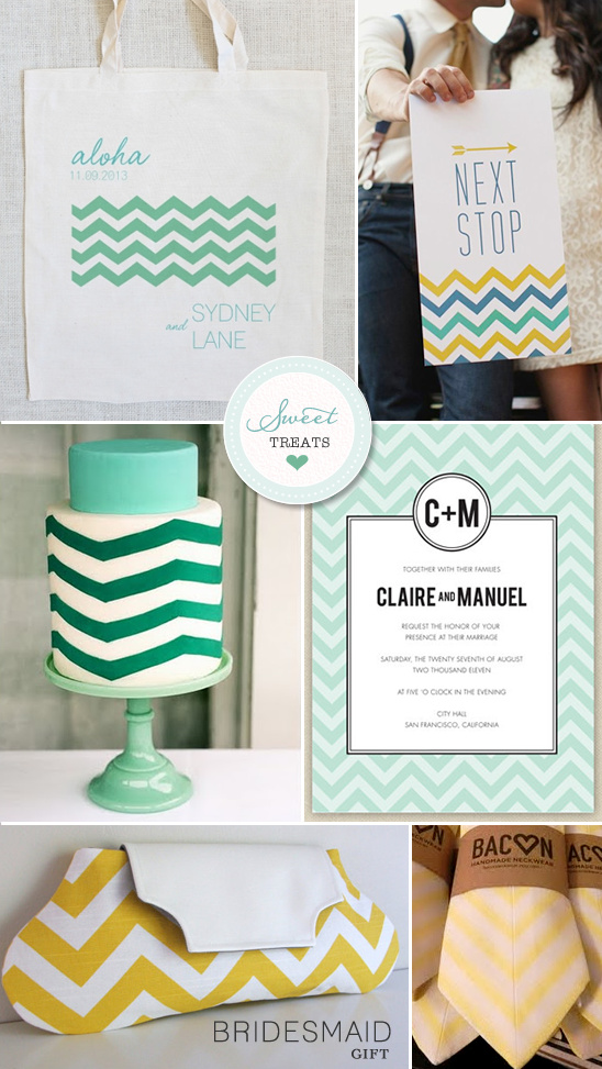 Sweet Treats + Chevron Stripe Wedding Ideas
