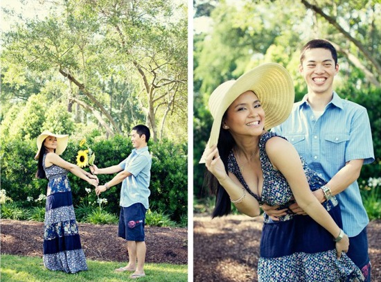 Houston Botanical Engagement Shoot
