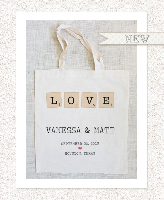 Words With Friends Wedding Tote