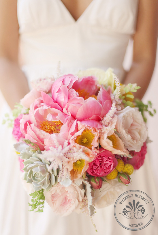 Wedding Bouquet Recipes | Peonies and Roses