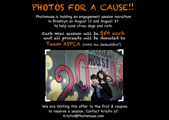 $50 Engagement Sessions for a Cause!