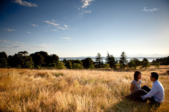 An Engagement Session in Seattle's Discovery Park | Mhari Scott Photography