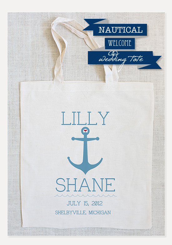 Nautical Wedding Tote