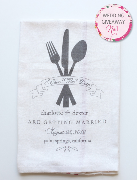 Wedding Giveaway | Save The Date Dish Towels