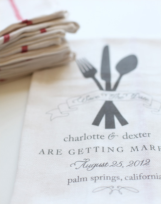 Wedding Giveaway   Save The Date Dish Towels