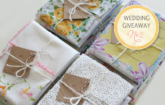 Wedding Giveaway | Vintage Hankie Wedding Invitations