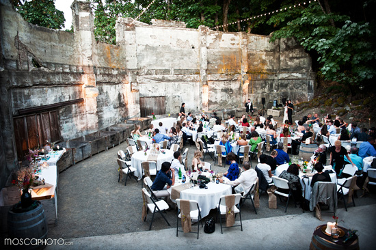 Wedding in the ruins of Springhouse Cellars and a trash-the-dress.