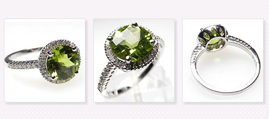 Wedding Giveaway | Win A Peridot & Diamond Halo Engagement Ring