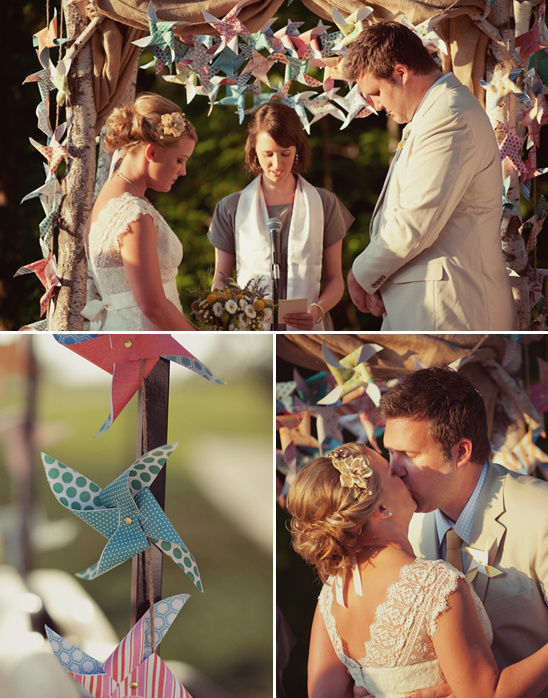 Pinwheel Inspired Wedding