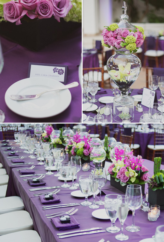 Rancho Los Lomas Eggplant And Chartreuse Wedding