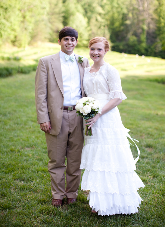 Antique 1920's Wedding Gown And A Wedding