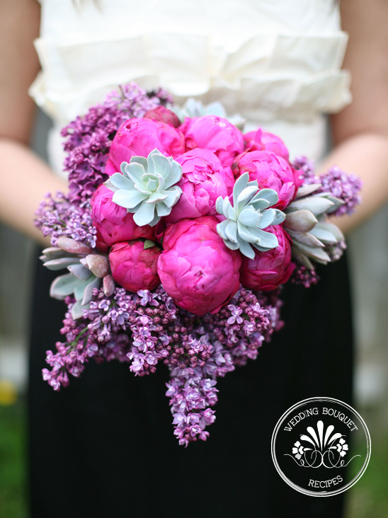 Bouquet Recipe | Pink, Purple & Succulents Bouquet