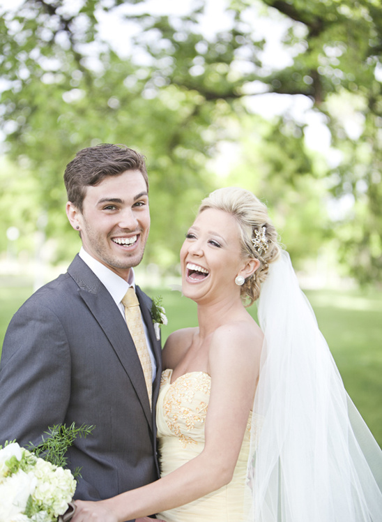Butter Cream Yellow Wedding Gown