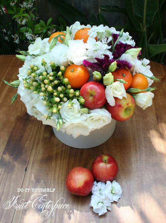 Fruit and flower do it yourself centerpieces Floral arrangements with fruit