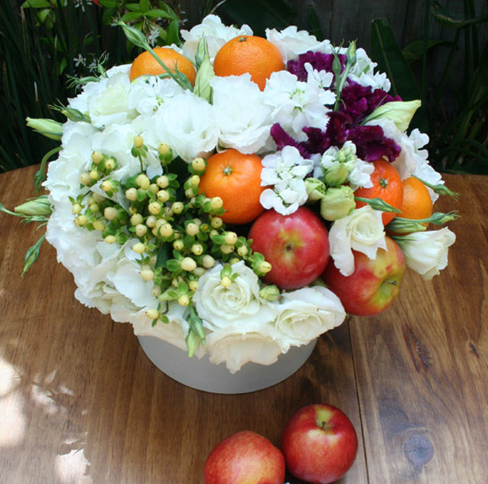 Fruit and flower do it yourself centerpieces