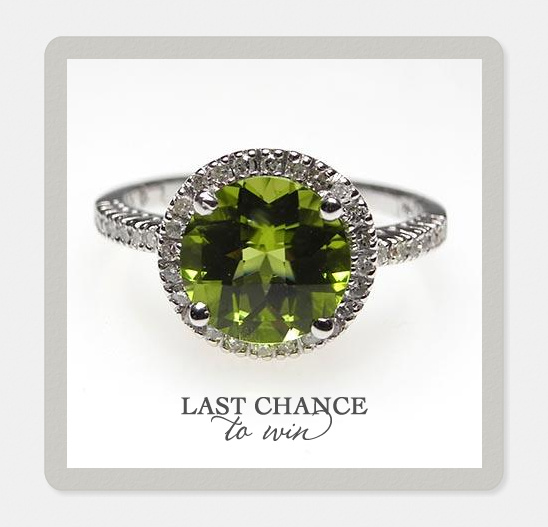Win A Peridot & Diamond Engagement Ring