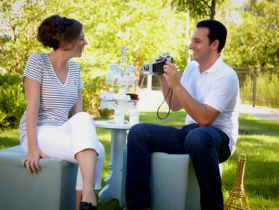 Parisian Picnic Engagement Shoot with Hair, Makeup & Styling by Bride Style Beauty