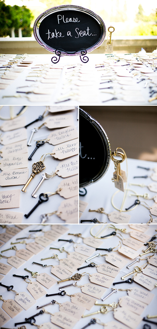 Glamorous Wedding With Vintage Key Wedding Favors