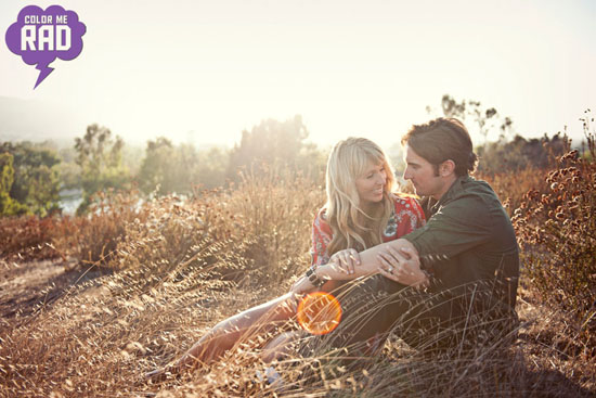 Wedding Engagement Photos in Temecula with COLOR ME RAD