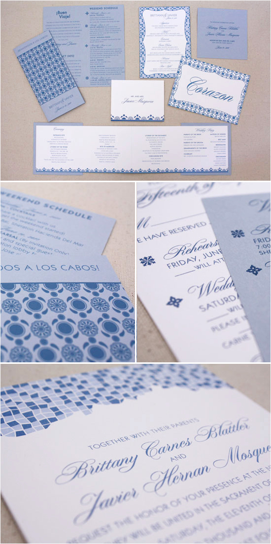 Mexico Wedding Invitations From Zenadia Design