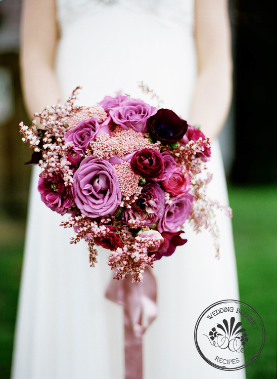 Bouquet Recipe | Plum Colored Wedding Bouquet