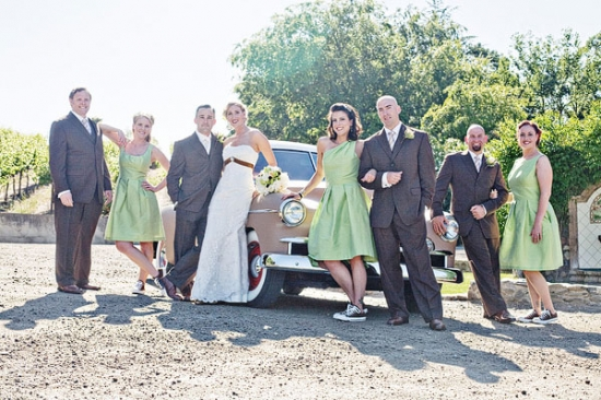 Retro Wine Country Wedding by Heather Elizabeth Photography
