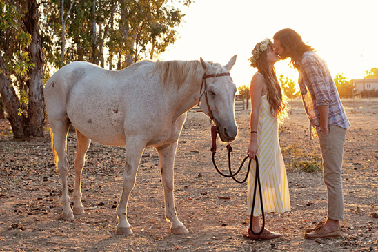 Unique Engagement Photos With A Horse