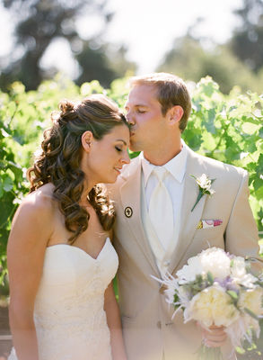 Vineyard Purple And Yellow Wedding