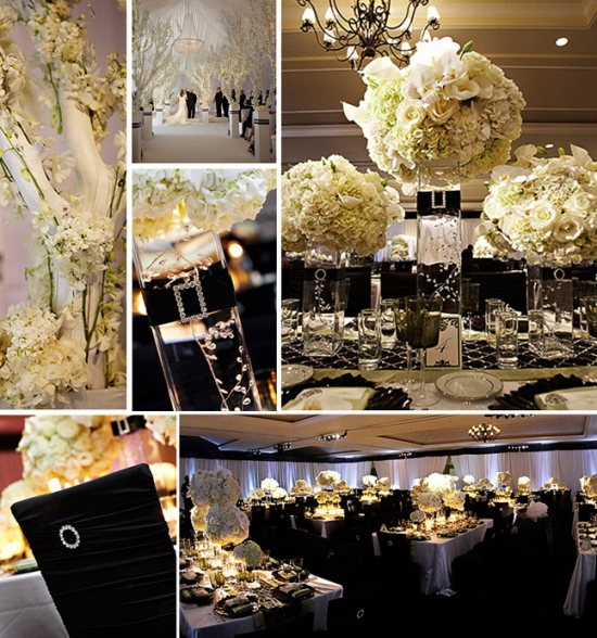 I Do Venues Design Inspirations: Black on White