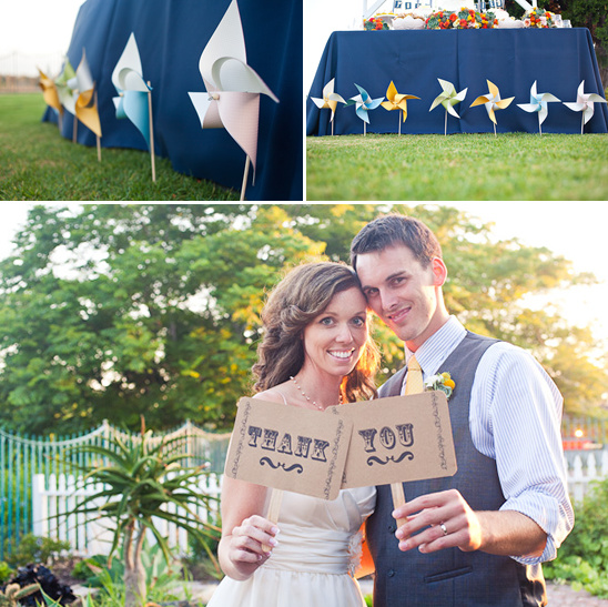Huntington Beach Pinwheel Wedding