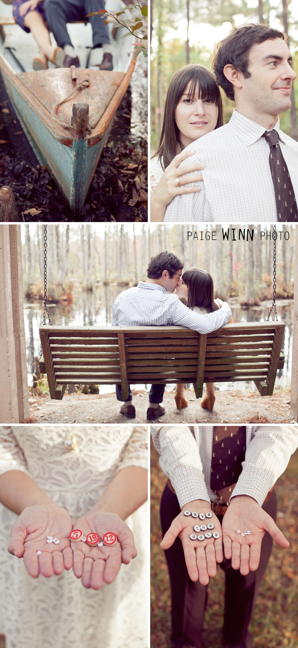 Save the Date Ideas Southern Engagement Session By Paige Winn Photo