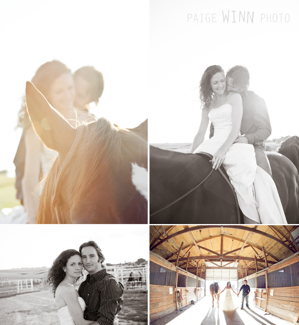 Newlywed Session at the Stables by Paige Winn Photo