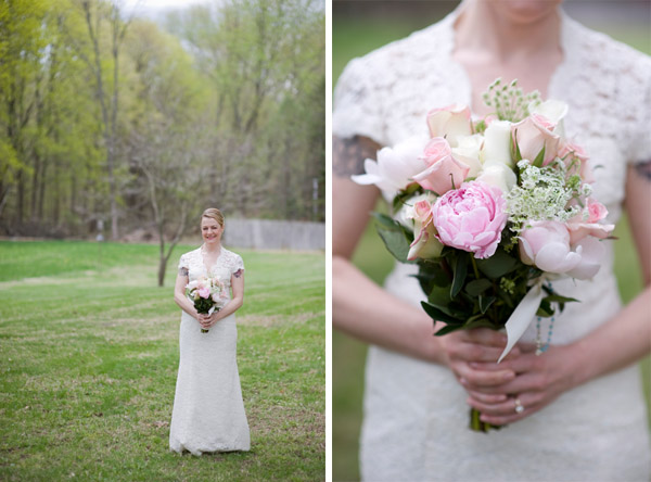Peonies and Lace Wedding Details