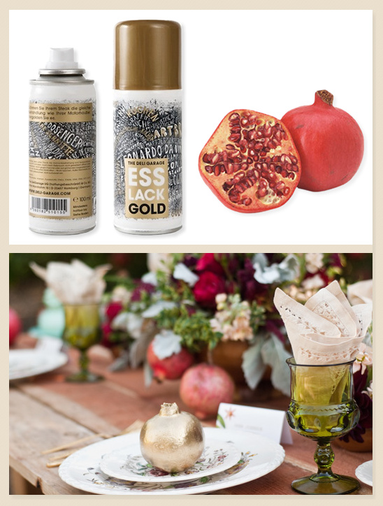 DIY Gold Fruit
