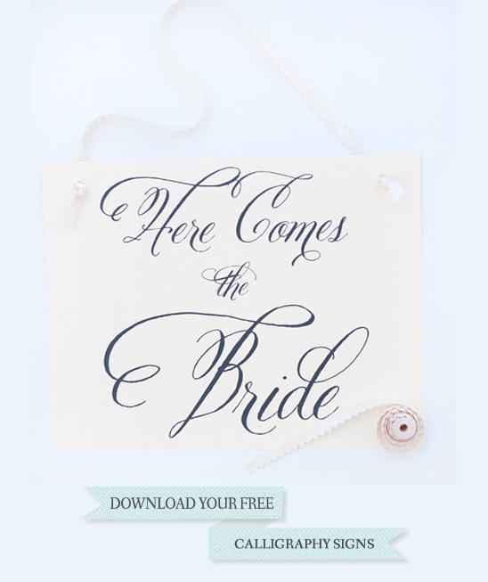 Free Wedding Signs
