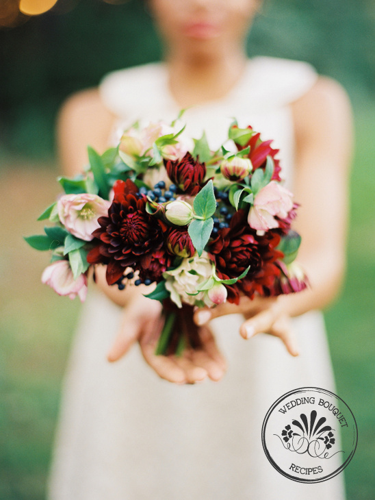 How To Arrange A Dahlia Wedding Bouquet