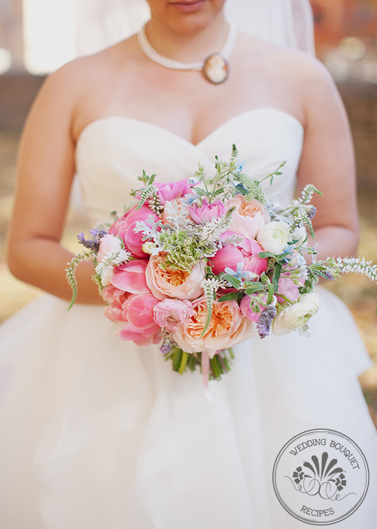 Ranunculus And Peony Wedding Bouquet
