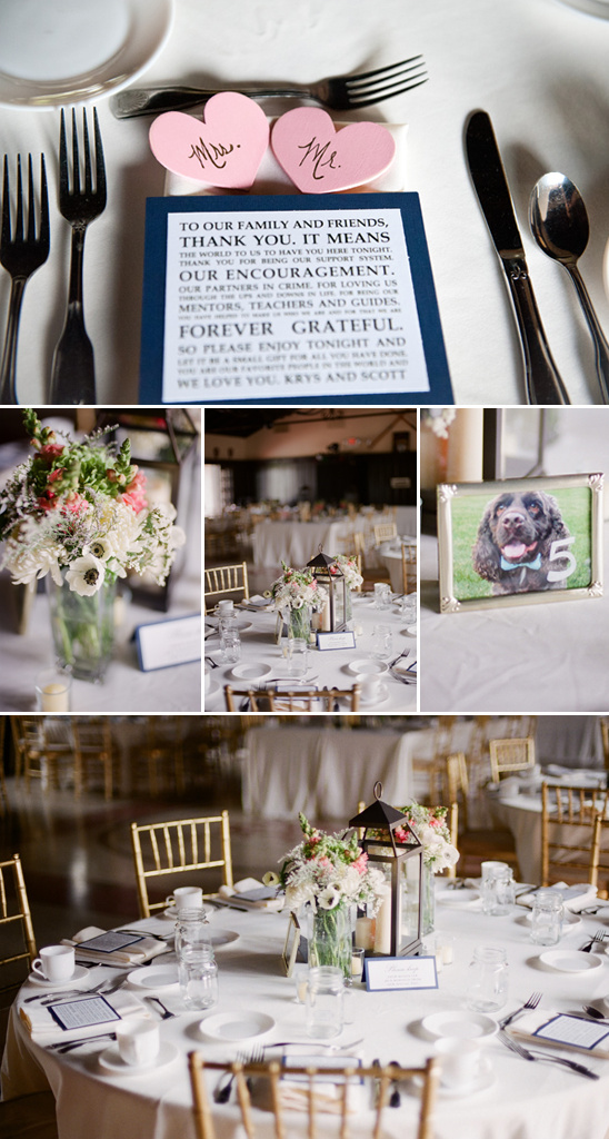 Preppy Pink And Navy Wedding