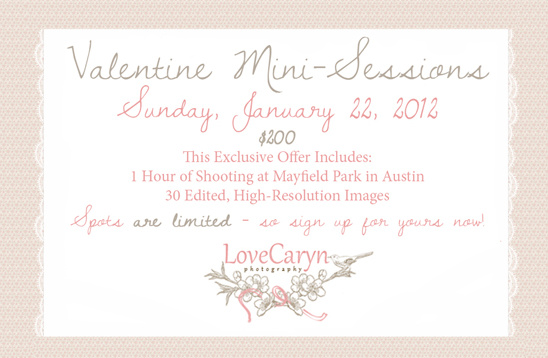 Love Caryn Photography Valentine Mini-Sessions