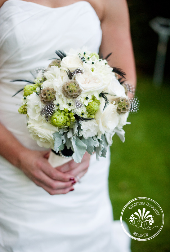 white and green wedding bouquet. Black Bedroom Furniture Sets. Home Design Ideas