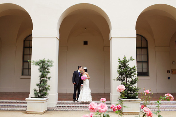 Modern Rooftop Wedding At Pasadena Museum of California Art